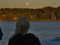 Moon Rise Over The Kennebec River