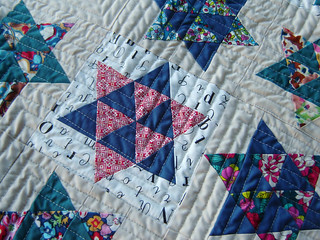 Dancing Stars Quilting Detail