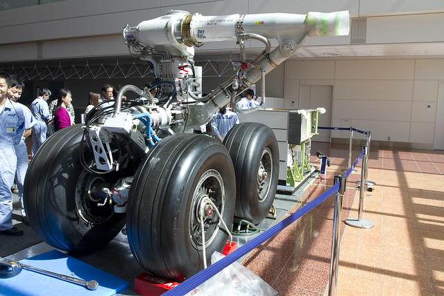 B747-400 landing gear
