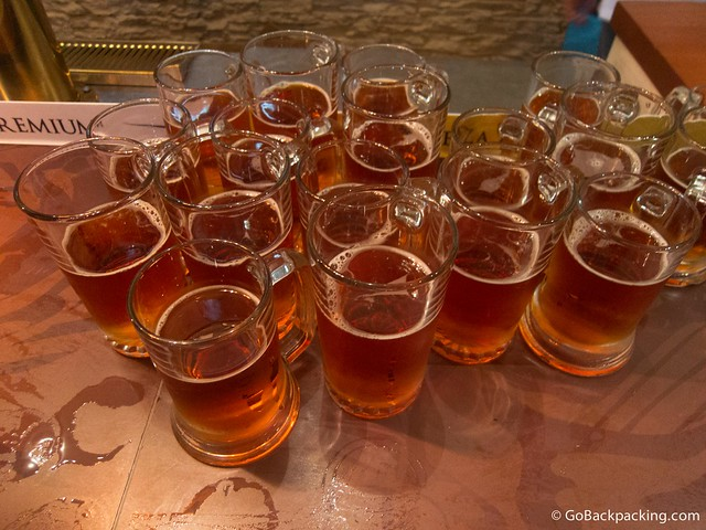 Mugs of Tipo Märzen, the Oktoberfest-inspired beer