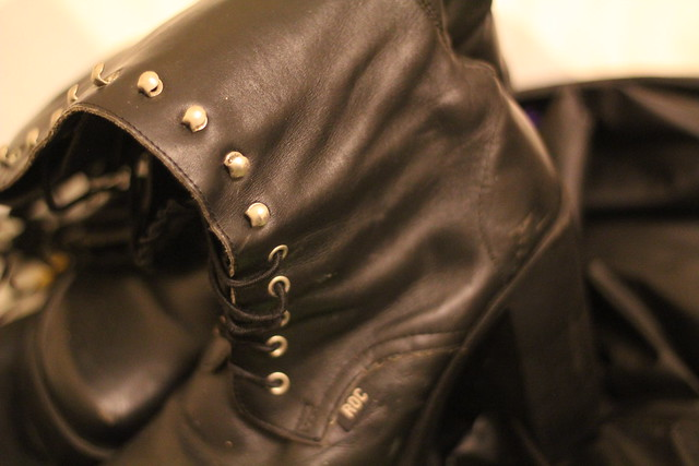 Tuesday: old goth boots for a costume