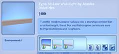 Type 88-Low Wall Light by Arasika Industries