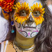 DSC07382 - Woman with Sugar Skull Makeup and Flower Eyes by loupiote (Old Skool) pro