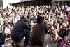 The Madrid concert was held at Plaza de Callao with Edurne headlining the event.   Photo Credit: Casilda Saldaña, October 2013
