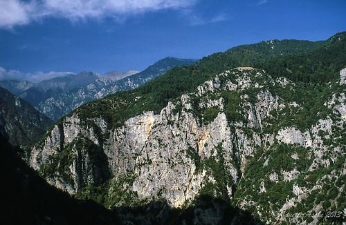 travel film 35mm europe hiking 1988 slide greece scannedslide mtolympus pieria enipeasgorge makedoniathraki