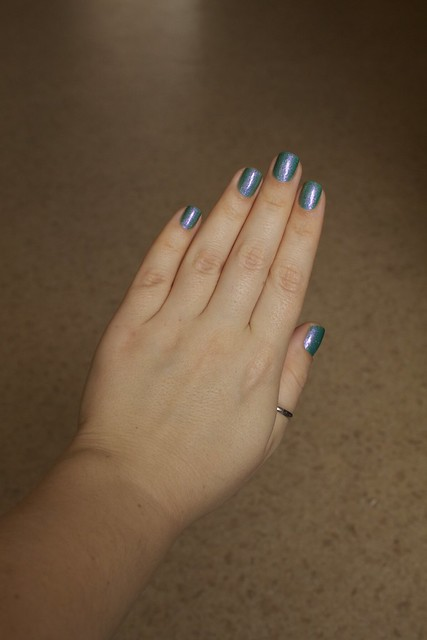 06 KBShimmer Teal Another Tail with 2 coats Eva Mosaic topcoat