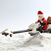 Christmas Santa Speederbike by bingethink