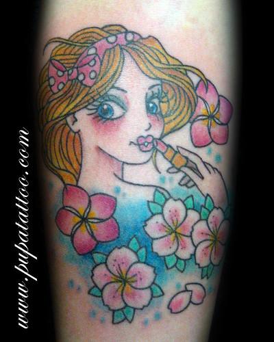 Tatuaje cara muñeca, Pupa Tattoo Granada by Marzia PUPA Tattoo