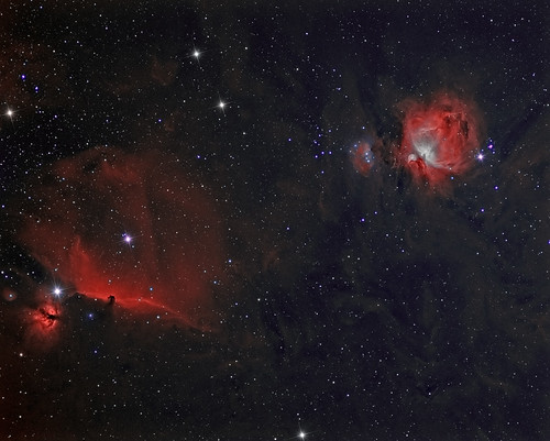 Horsehead & Orion Nebula. by Mick Hyde