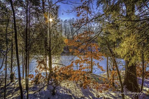 winter sunset lake snow nature water landscape virginia woods hdr beaverdam thechallengefactory canoneos5dmarkiii