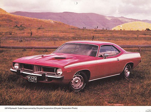 1974 Plymouth Cuda Coupe factory photo by Rickster G