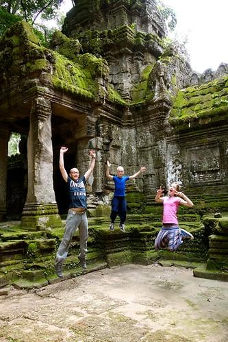 Jumping at Angkor