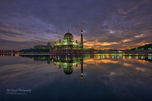 reflection clouds sunrise islam putrajaya epic congregation hdr masjid placeofworship mirrorreflection putramosque hdrphotography masjidputra sifoocom nikond800e nurismailphotography nurismailmohammed nurismail