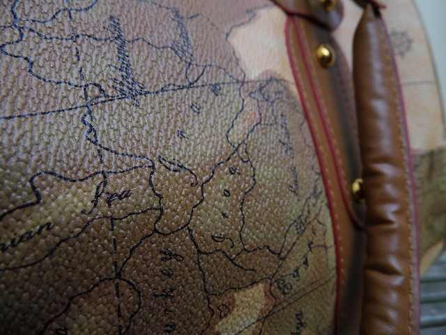 Chloe Atlas Map Print Handbag close up print