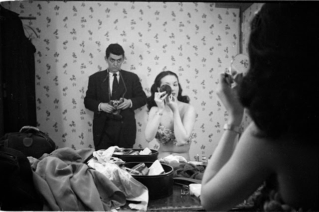 Stanley Kubrick self portrait with showgirl Rosemary Williams 1948