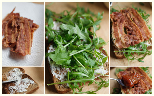 Bacon, Lettuce & Tomato Jam Sandwich