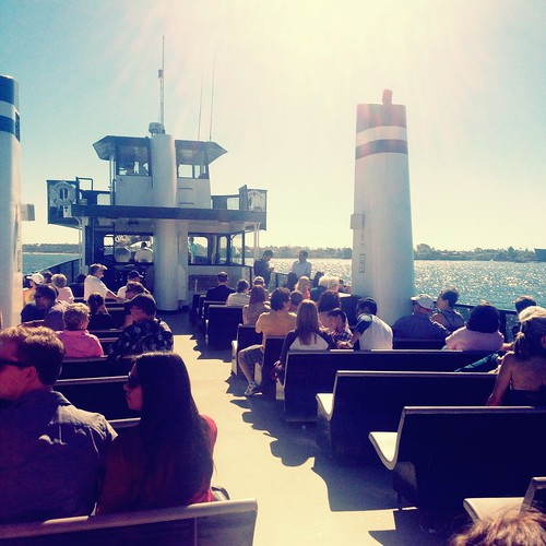 On the Coronado ferry.