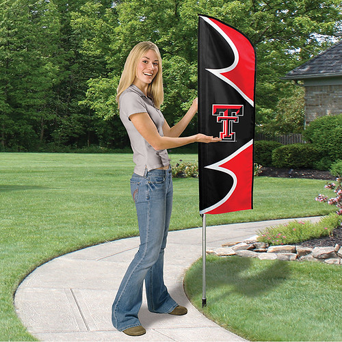 Texas Tech Short Feather Flag