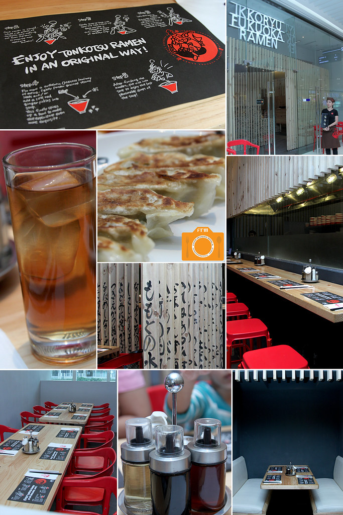 Ikkoryu Fukuoka Ramen interiors collage