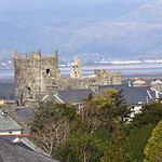 LOOKING DOWN ON HARLECH CASTLE