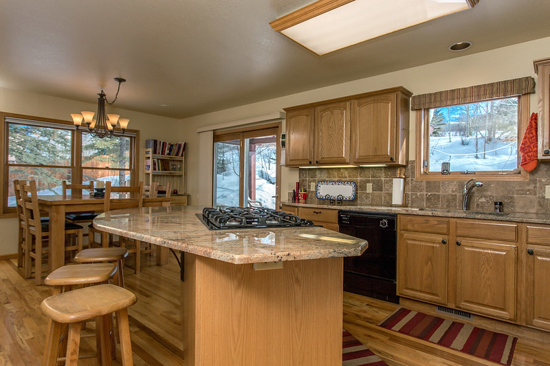 granite countertops, open kitchen, Steamboat home for sale