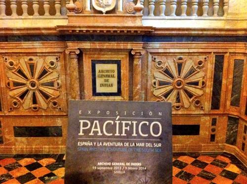 Exposición Pacífico en el Archivo de Indias (Sevilla)