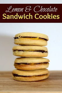 Lemon chocolate sandwich cookies | by Rachel Cotterill