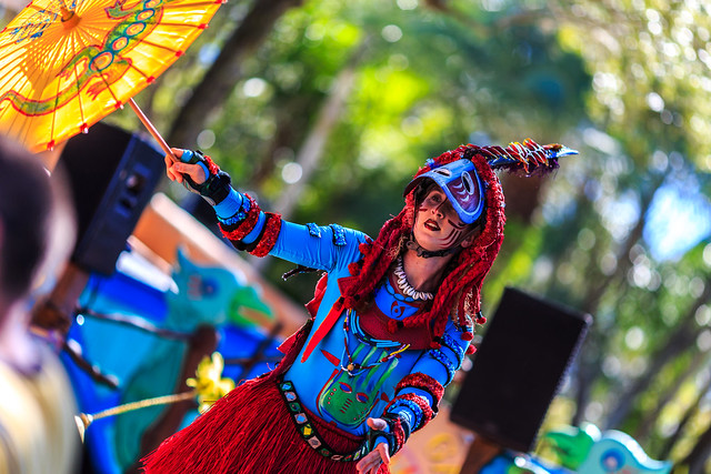 A Stilt Walker at Animal Kingdom
