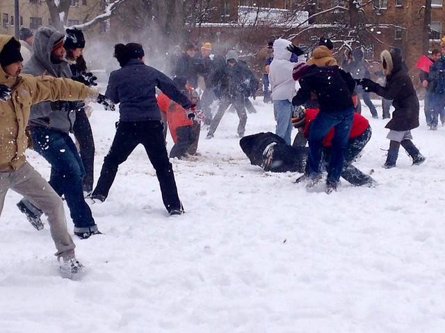 Meridian Hill Snowball Fight
