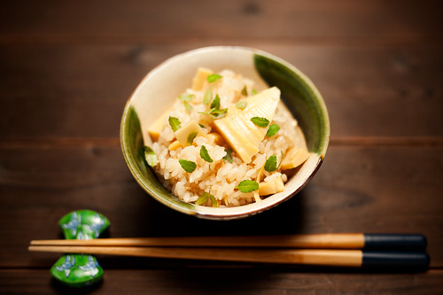 Rice with bamboo shoot