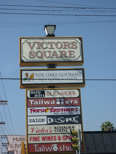 Victor's Square Sign - Restaurant & Delicatessen - Hollywood CA - Photos By Keith Valcourt