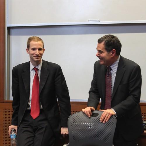 Dean Magid and Professor Bergstresser