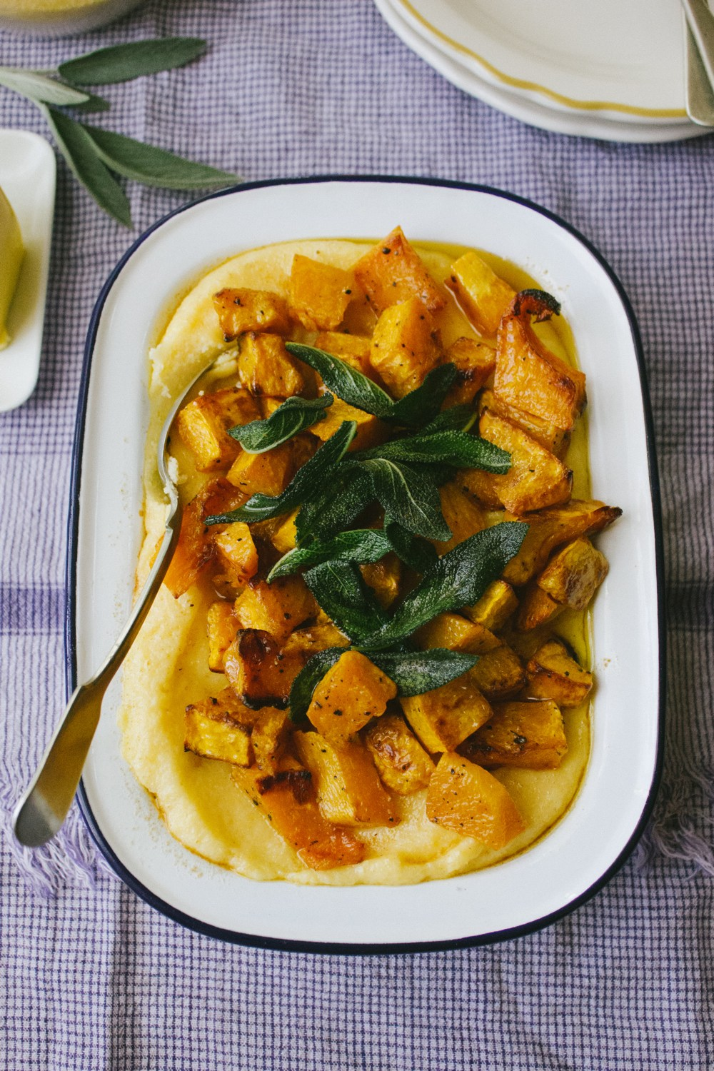 Polenta with Roast Pumpkin and Brown Butter | Simple Provisions