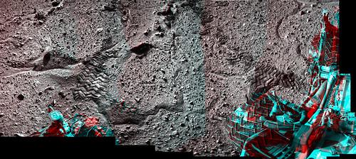Curiosity sol 595 NavCam anaglyph