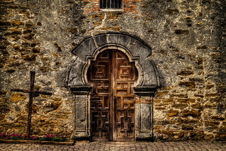 Door to the Mission Espada Church