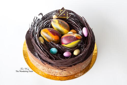 Chocolate Nest Egg Cake