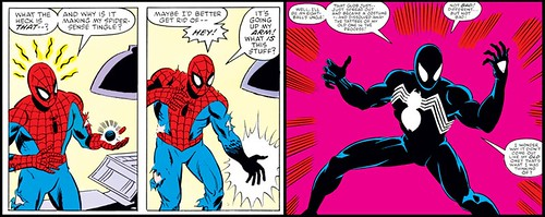 spidey_discovers_black_costume
