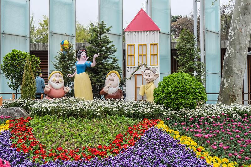 Snow White and Friends Enjoying Springtime in Seoul, Korea