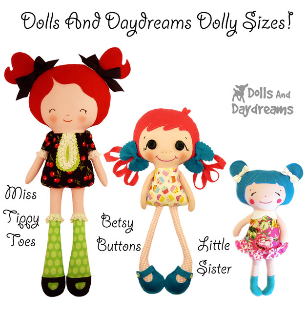 Doll Sizes Large Meduim and Small Sewing Patterns