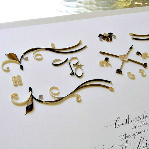 Quilled Ketubah by Ann Martin of All Things Paper
