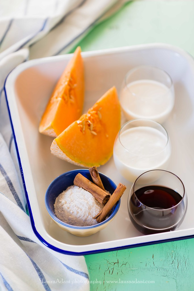 mousse di melone porto e cannella