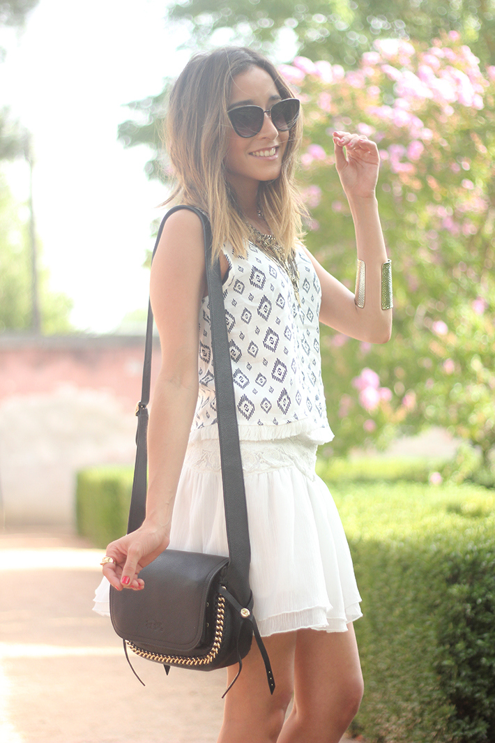 Black & White Summer Outfit Mango10