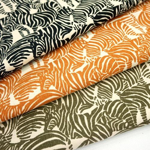 原-斑馬紋 厚質純棉印花帆布 酒袋布 動物紋 手工藝DIy拼布布料 CA790066