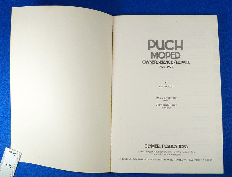 RD15221 Original Vintage Puch Moped Owner Service Repair Manual 1976-1977 DSC08745