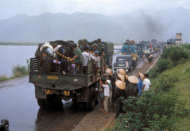 Vietnam War 1972 - Photo by Bruno Barbey - Refugees near Hue