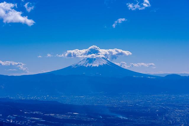 富士山の雲がすごい
