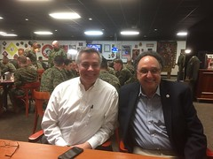 Larry Chase and Al Berman at Camp Lejeune, Jacksonville, NC