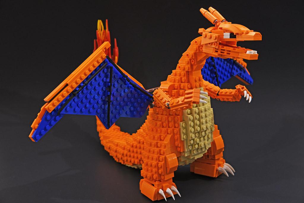 Charizard (custom built Lego model)