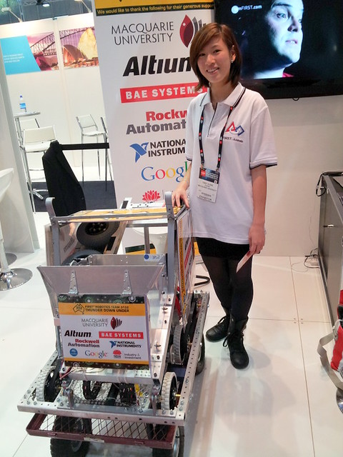 Thunder Down Under robot with Cindy Huang