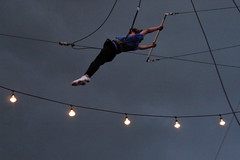 jumping(0.0), mast(0.0), rings(0.0), flying trapeze(1.0), event(1.0), performing arts(1.0), aerialist(1.0), line(1.0), entertainment(1.0), performance(1.0), circus(1.0),